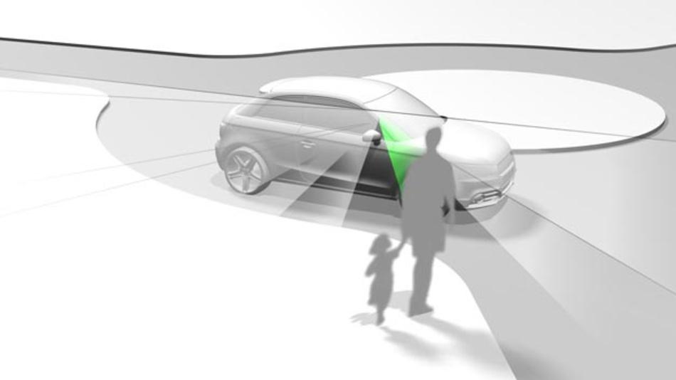Projektionen, Symbole oder Farben können bei der Kommunikation zwischen automatisierten Fahrzeugen und anderen Verkehrsteilnehmern, wie Fußgänger, eine wichtige Rolle spielen.
