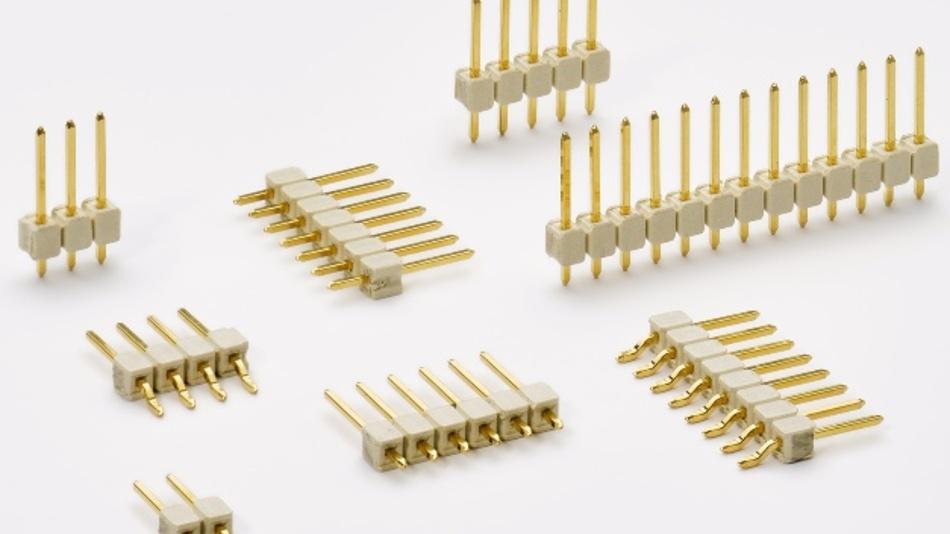 Die Stiftleisten von Fischer Elektronik sind als 1- bis 36-polige Versionen erhältlich.