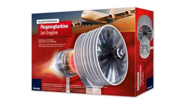 Großer Technik-Bausatz Flugzeugturbine des Franzis Verlag