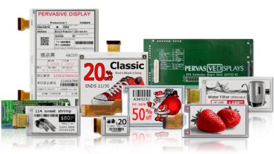 E-Paper-Displays von Pervasive Displays