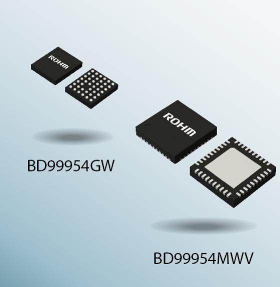 Der BD99954GW kommt im UCSP55M3C-Gehäuse und der BD99954MWV im UQFN040V5050-Gehäuse.