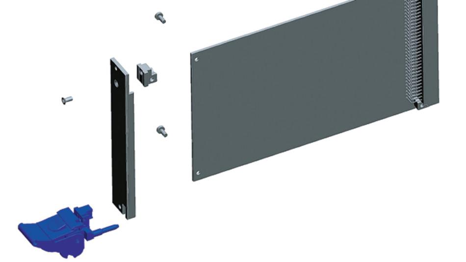 Bild 1. Die Handgriffe sind an dem jeweiligen Frontsystem befestigt, das die Leiterplatte aufnimmt. Zusammen mit der Frontplatte bilden sie eine integrierte Funktionseinheit.