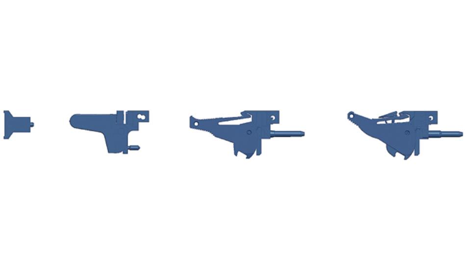 Bild 3. Die Grafik zeigt von links nach rechts die Entwicklungshistorie typischer Handgriffe, jeweils in der Seitenansicht.