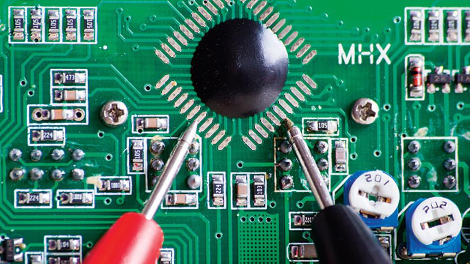 Einsatz optischer Fasern in Oszilloskop-Tastköpfen.