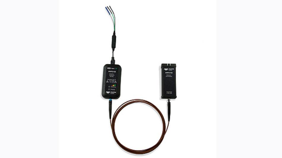 Bild 1. Der neue HVFO-Tastkopf (High Voltage Fiber-Optical) von Teledyne LeCroy bietet eine vollkommene gal¬vanische Trennung zwischen Tastkopf und Oszilloskop.