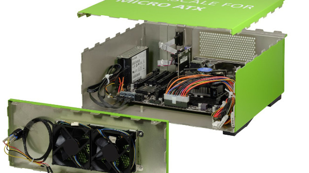 Die Verriegelungskonstruktion der Schroff-Interscale-Gehäuse sorgt für einen integrierten EMV-Schutz von 20 dB bei 2 GHz.