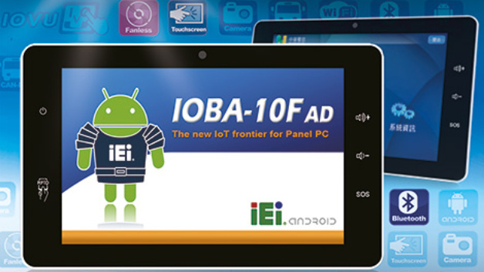 """Das Modell IOBA-10F-AD des 10""""-Panel-PCs von Comp-Mall verfügt über sechs 4-polige IoT-Sensor-Stecker und ist für moderne Kommunikaiontsfunkionen ausgelegt."""