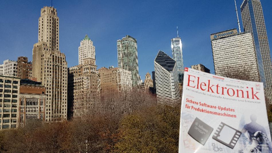 Die »Elektronik« vor der Skyline von Chicago am Millenium Park.