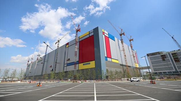 Das Werk von Samsung in Pyeongtaek, wo gerade im zweiten Stock eine neue DRAM-Linie entsteht.