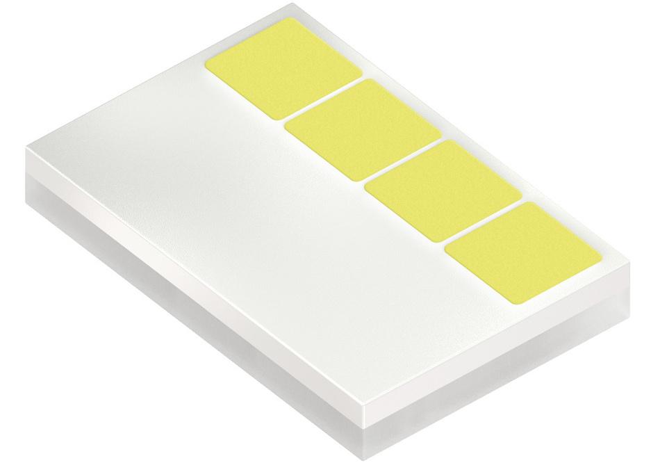 Multi-Chip-Variante der Oslon Compact PL mit 4 einzeln ansteuerbaren Leuchtpunkten.