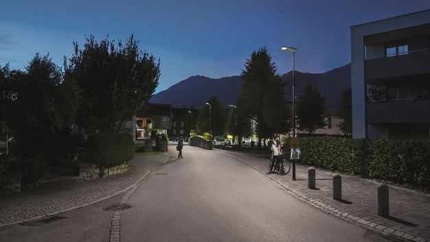 Nenzing setzt auf eine moderne Ortsbeleuchtung mit LED-Straßenleuchten von Thorn.