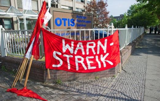 Beim Zugproduzenten Bombardier in Hennigsdorf und dem Berliner Aufzugbauer Otis in Tegel waren am heutigen Montag die Beschäftigten der Frühschicht zum Warnstreik aufgerufen. Hintergrund ist die laufende Tarifrunde der Metall- und Elektroindustrie.