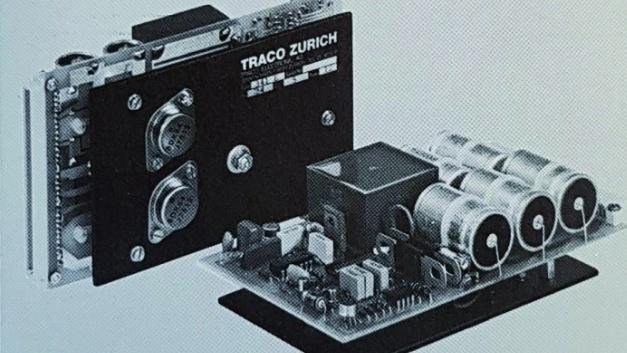 AC/DC-Schaltnetzteil auf Europakarte aus dem Jahre 1977: 80Watt (Format 160 x 100 mm, Abbildung ohne Netztransformator)