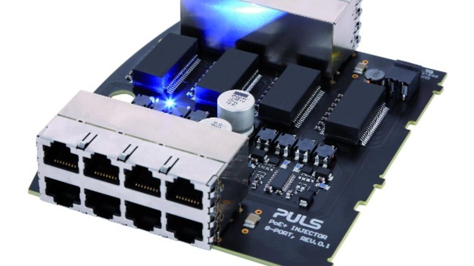 Robuste 4- und 8-Kanal-PoE-Injektoren für Industrieanwendungen, die dem neuen Industriestandard IEEE 802.3bt entsprechen und eine Versorgungsleistung von 100W pro Kanal ermöglichen, bringt Puls auf den Markt.