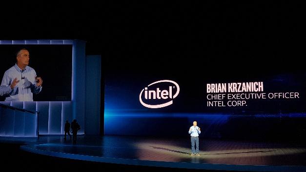 Brian Krzanich, CEO von Intel, hielt die erste Keynote der CES am Vorabend des Messestarts.