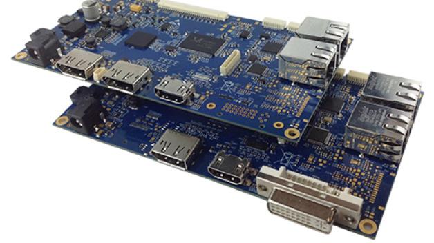 Der 10/100-MBit-2-Port-Switch von Display Solutions Scaler-Board erleichtert die Integration in ein bestehendes Netzwerk.