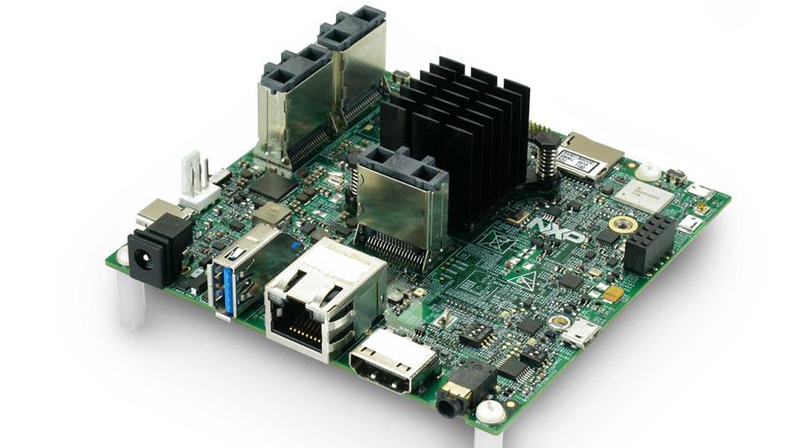 Das NXP i.MX 8MQuad Evaluierungskit bietet eine Plattform für die schnelle Evaluierung der i.MX 8MQuad, i.MX 8MDual und i.MX 8QuadLite Mikrocontroller mit zwei bis vier Cortex-A53 und einem Cortex-M4.
