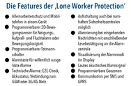 Features der Lone Worker Protection