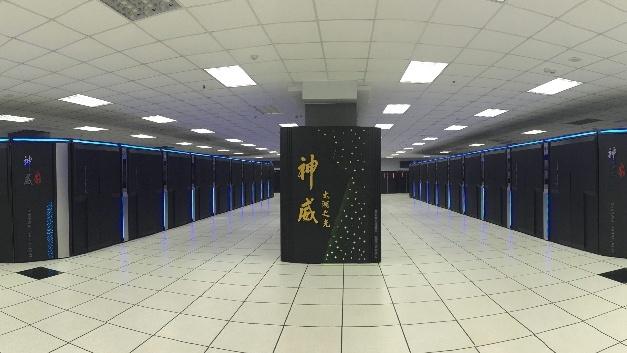 Der Sunway TaihuLight Supercomputer im staatlichen chinesischen Supercomputing-Center in Wuxi, Provinz Jiangsu, China.