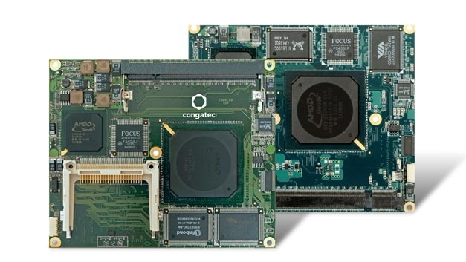 Computermodule mit AMD-Geode-Prozessor im XTX-/ETX-Format.