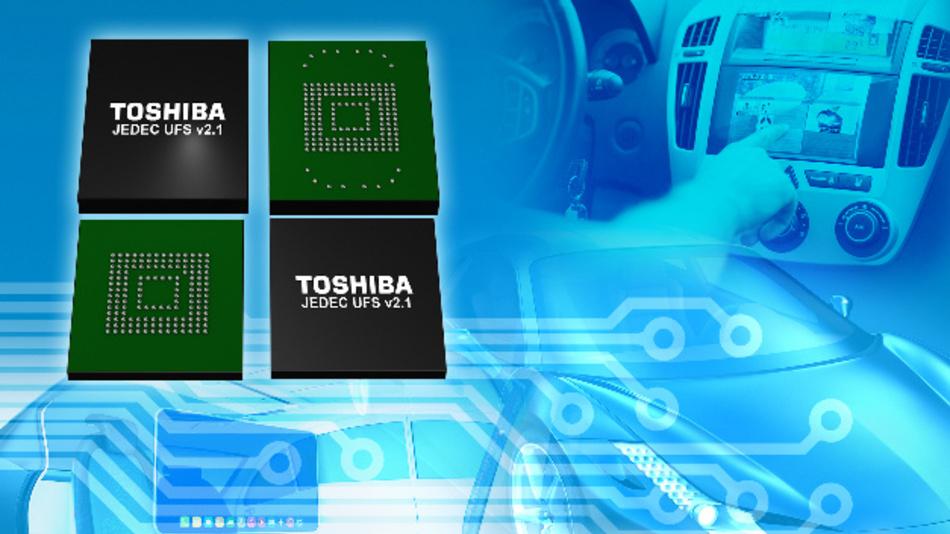 Speicher für den erweiterten Temperaturbereich für komplexe Anwendungen, einschließlich Infotainment- und Fahrerassistenzsysteme.