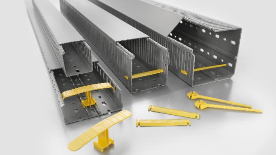 Für eine perfekte Schaltschrankverdrahtung offeriert Weidmüller ein umfangreiches Programm an Verdrahtungskanäle in metrischer Ausführung, sowie Eck- und DIN-Kanäle.