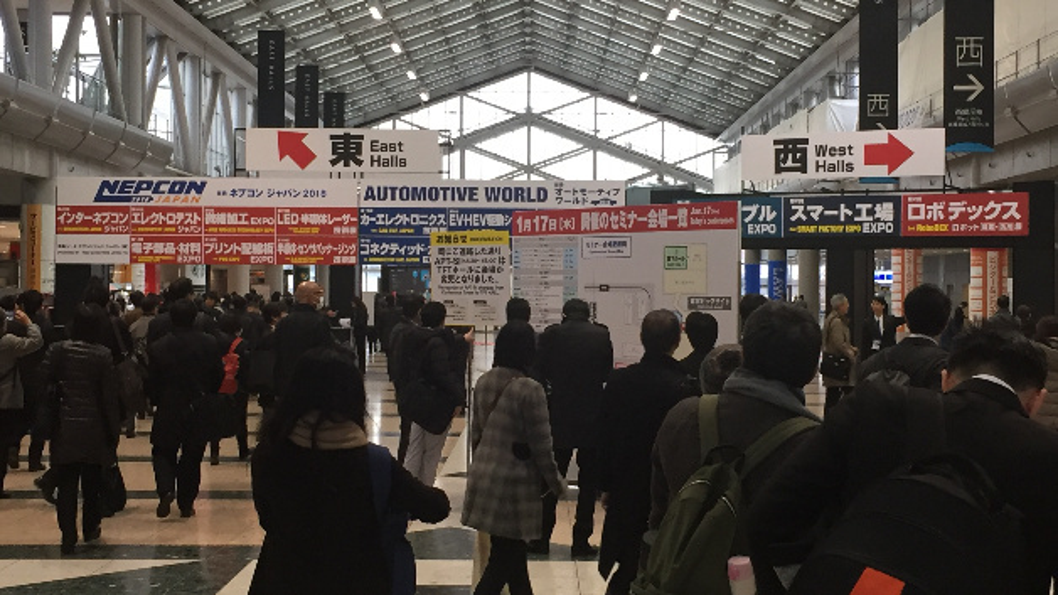 Im Kongresszentrum »Tokio Big Sight« fand bereits zum 10. Mal die weltgrößte Messe für Automobiltechnologie statt, daneben gab es eine »Smart Factory Expo« mit dem Schwerpunkt Industrie 4.0.