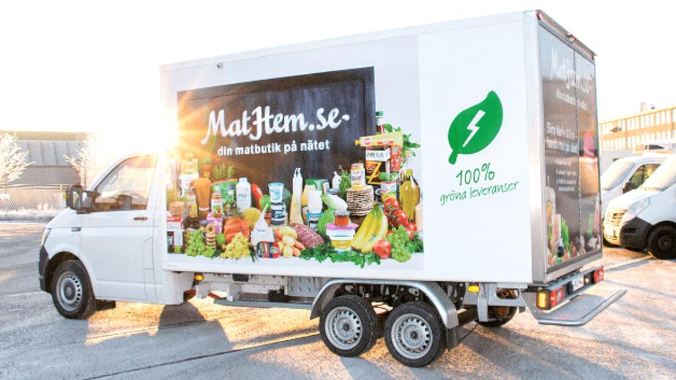Das erste E-Kühlfahrzeug in Skandinavien ist bei MatHem im Einsatz.