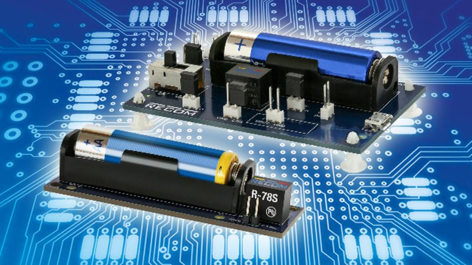Für stromsparende Anwendungen an einer 1,5-V-AA-Batterie ist der R-78S vorgesehen.