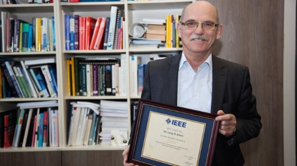 Prof. Dr. Klaus-Dieter Lang freut sich über die IEEE-Auszeichnung