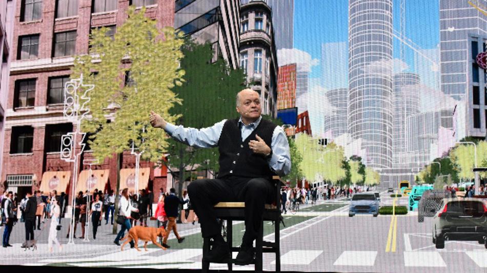 Ford-Präsident Jim Hackett sprach in seiner Keynote auf der CES 2018 über die »City of Tomorrow«.
