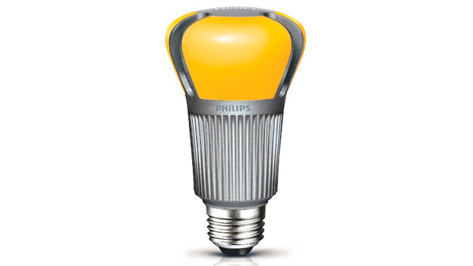"""Bild 9. Lampe mit """"remote phosphor"""". Die Leuchtstoffschicht befindet sich auf der Innenseite des Kolbens."""