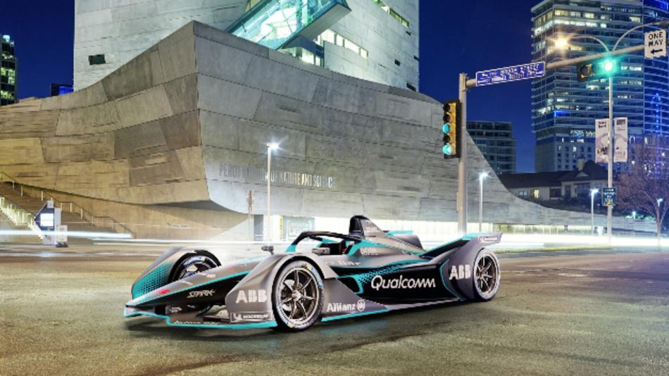 So sieht der neue »Gen2«-Rennwagen der Formel E aus, dessen Batterien die doppelte Reichweite der Vorgängergeneration erreichen.