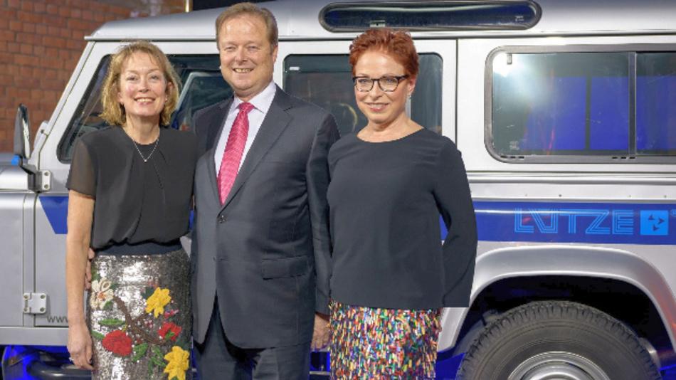 Friedrich Lütze GmbH, 60 Jahre im Familienbesitz: Udo Lütze mit Gattin Susan und Schwester Gitta Lütze (rechts) bei der Jubiläumsveranstaltung am 26. Januar 2018