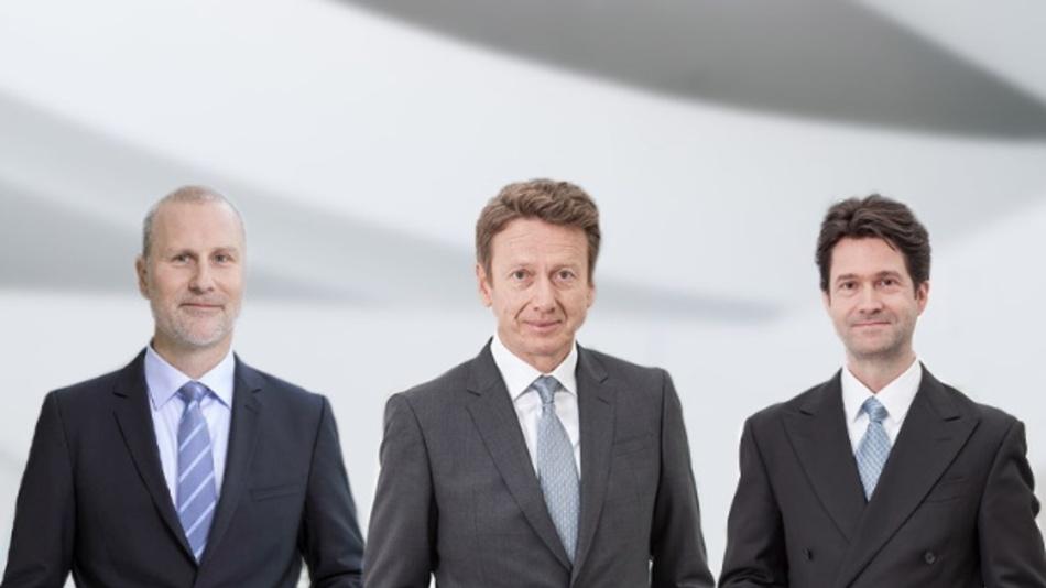 Der Vorstand der Leoni AG (v.l.n.r.): Martin Stüttem, verantwortlich für den Unternehmensbereich Wiring Systems, Karl Gadesmann, Finanzvorstand, und Bruno Fankhauser, verantwortlich für den Unternehmensbereich Wire & Cable Solutions.
