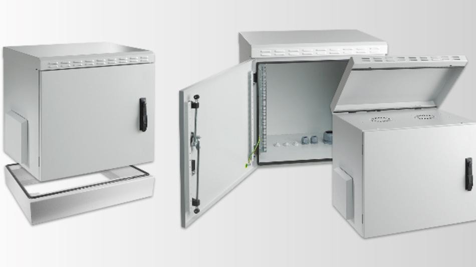 Ausgelegt für Traglasten von bis zu 100 kg sind die komplett vormontierten Stahlblechgehäuse von EFB.