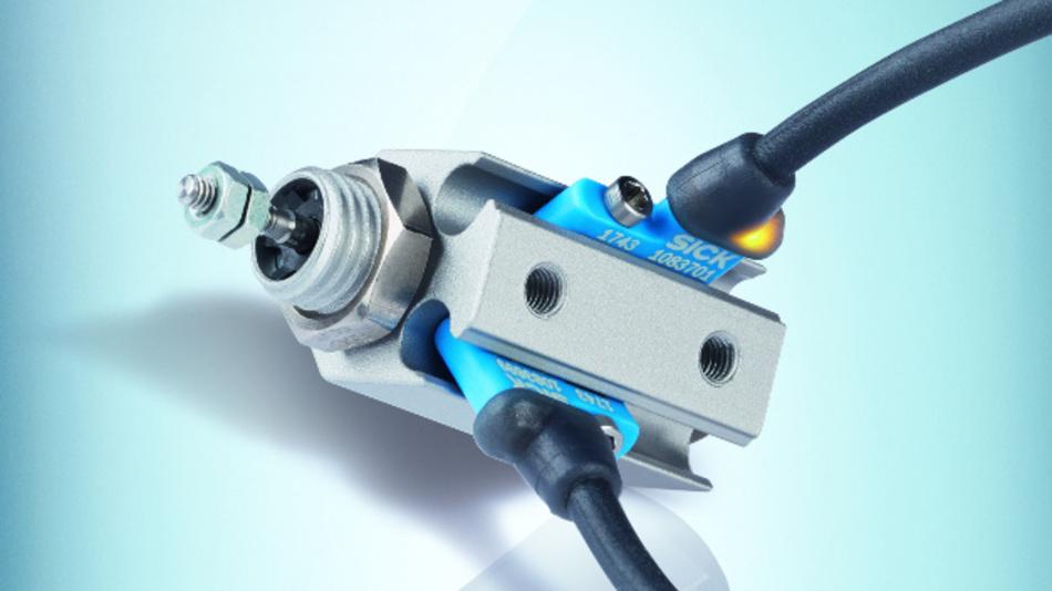 Der MZCG von SICK ist ein ultrakurzer Zylindersensor für pneumatische Greifer und Miniaturzylinder.