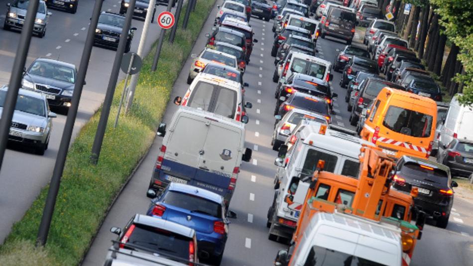 Die Stickstoffdioxid-Belastung an der Landshuter Allee in München erreichte oftmals einen bundesweiten Spitzenwert.