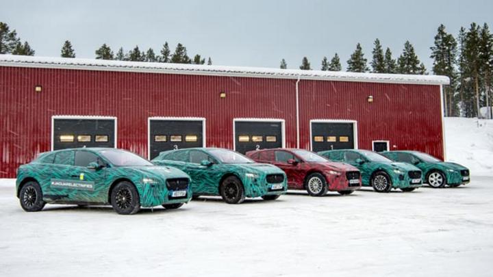 Jaguar Land Rover testet den I-Pace in Nordschweden bei Temperaturen von bis zu minus 40 °C.