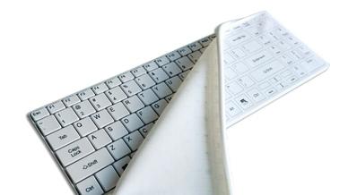 Finktatstatur »Its Cool Flat« mit abnehmbaren Silikonschutzbezug