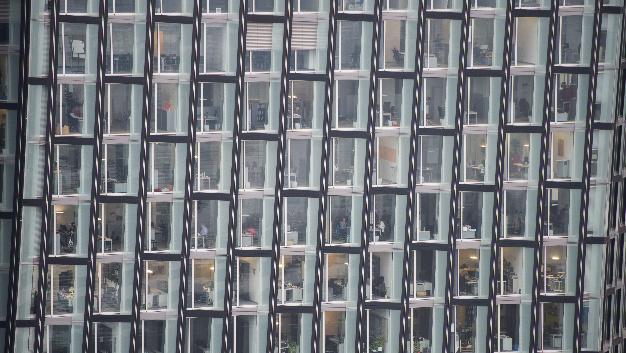 Bürogebäude in Hamburg.