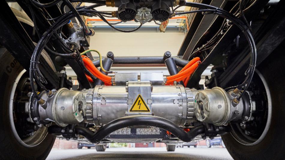 Firma Paul elektrifiziert Nutzfahrzeuge durch Umrüstung mit der E-Achse von BPW.