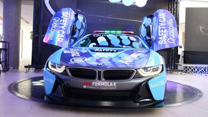 Das neue Qualcomm BMW i8 Coupé Safety Car hat am 01.02.2018 in Chile seine Premiere gefeiert.