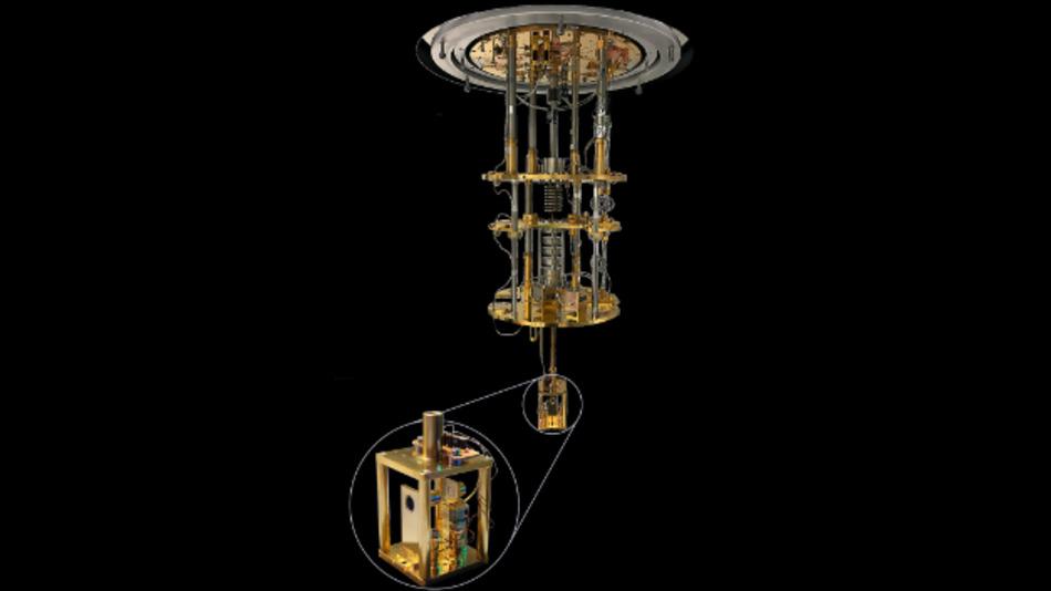 Die verwendete Kühlapparatur mit konfokalem Mikroskop.