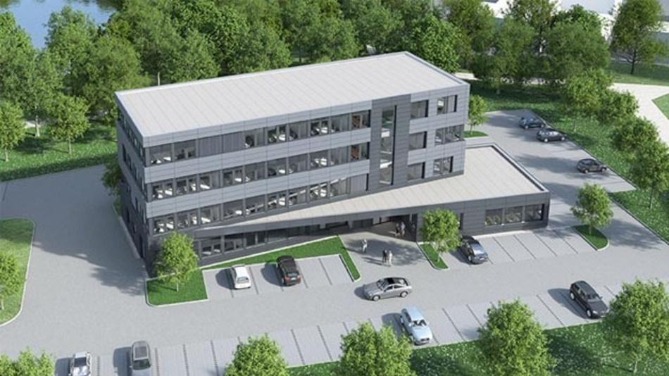 Rendering des neuen Firmengebäudes von Segger