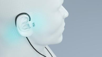 Bei der Lösung komplexer medizinischer Fragestellungen, etwa bei der Unterdrückung des Tinnitus, gewinnen intelligente, vernetzte Implantate immer mehr an Bedeutung.