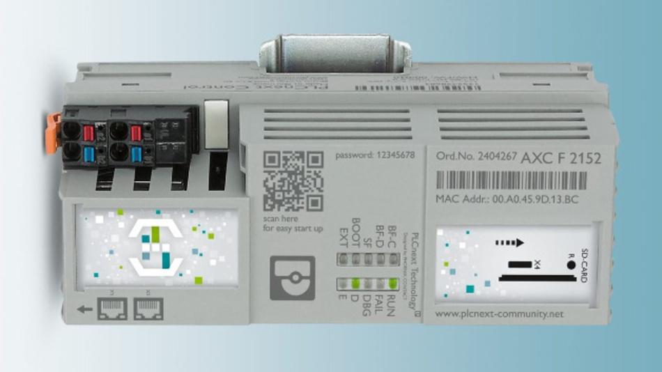 Die AXC F 2152 ist die erste Steuerung von Phoenix Contact mit »PLCnext Technology«.