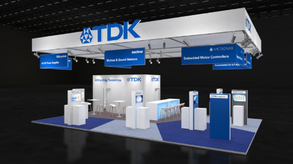 Der diesjährige Embedded-World-Messestand von TDK.