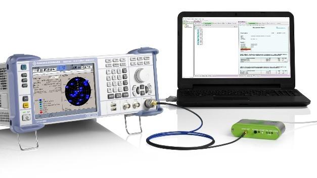 Der R&S SMBV100A Vektorsignalgenerator erlaubt voll automatisierte Performance-Tests des GNSS-Emfpängers in eCall-Modulen