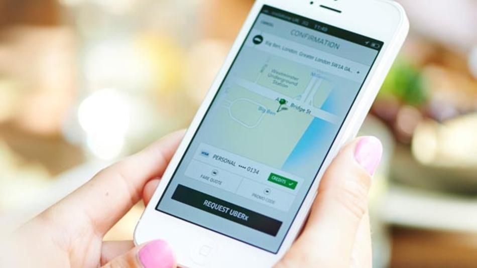 Einfach mal eine Fahrgelegenheit suchen: Mit dieser Idee hat Uber im vergangenen Jahr 7,4 Mrd. Dollar Umsatz erzielt - aber auch 4,5 Mrd. Dollar Verlust.